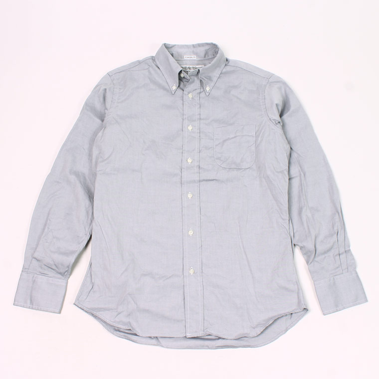 INDIVIDUALIZED SHIRT (インディビジュアライズドシャツ) L/S BD STANDARD FIT PIN POINT OXFORD SHIRT - GREY