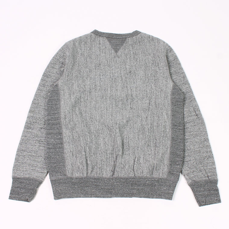 FELCO (フェルコ)  DOUBLE V GUSSET 16oz NEW HEAVY WEIGHT TERRY INVERSE WEAVE SWEAT CREW NECK - CHARCOAL HEATHER