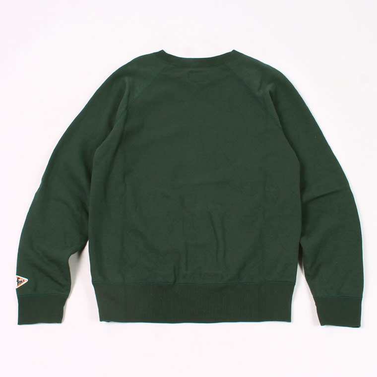 FELCO (フェルコ)  L/S RAGLAN SWEAT 12oz LT WEIGHT FRENCH TERRY - DK GREEN
