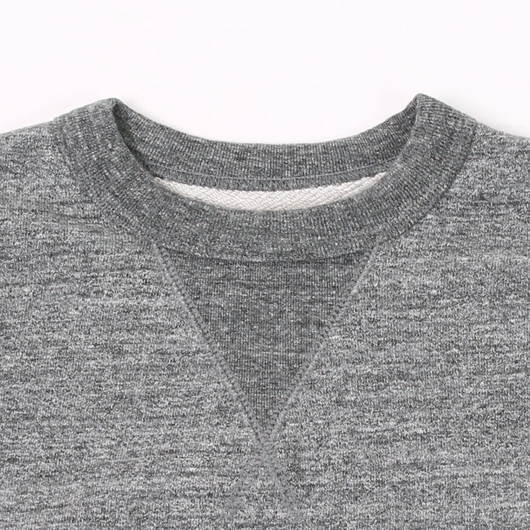 FELCO (フェルコ)  L/S SET IN V GUSSET SWEAT 12oz LT WEIGHT FRENCH TERRY - CHARCOAL HEATHER