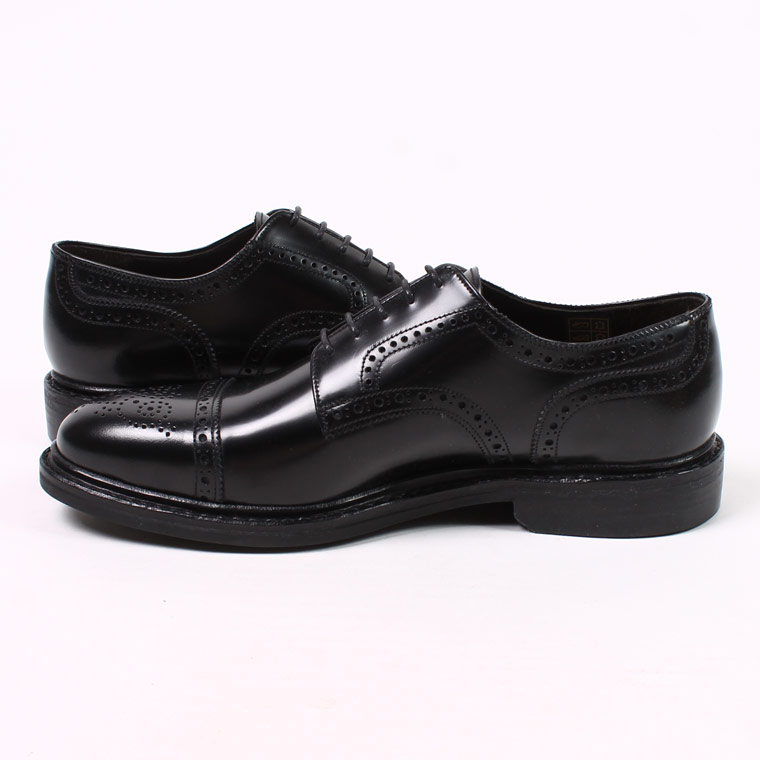 Jalan Sriwijaya (ジャラン スリウァヤ)  HI SHINE LEATHER CAP TOE w/DINITE SOLE - BLACK