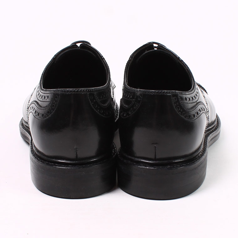Jalan Sriwijaya (ジャラン スリウァヤ)  HI SHINE LEATHER CAP TOE w/DINITE SOLE - BLACK