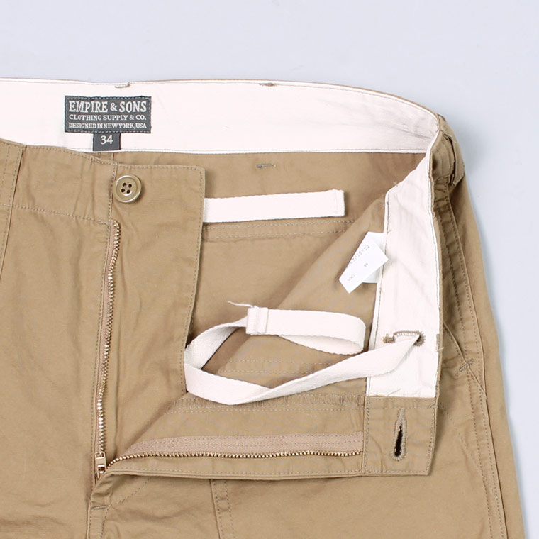 EMPIRE & SONS (エンパイア アンド サンズ)  FATIGUE PANT MILITARY WEATHER - KHAKI