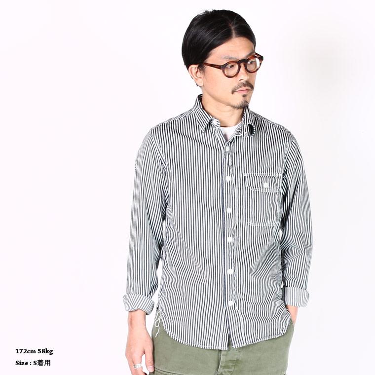 EMPIRE & SONS エンパイア アンド サンズ ヒッコリーストライプ ワークシャツ メンズファッション,通販 通信販売