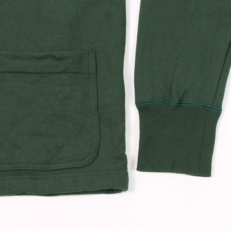 FELCO (フェルコ)  V SNAP CARDIGAN 12oz LT WEIGHT FRENCH TERRY - DK GREEN