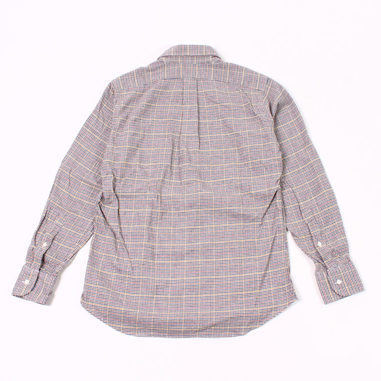 INDIVIDUALIZED SHIRT (インディビジュアライズドシャツ)  L/S BD STANDARD FIT FLANNEL CHECK SHIRT - BEIGE
