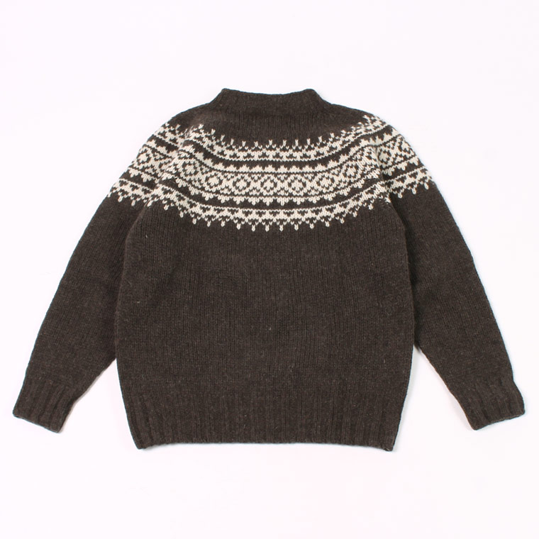 HARLEY OF SCOTLAND (ハーレーオブスコットランド)  CREW NECK SWEATER 100% PURE NEW WOOL - MOLE_CREAM