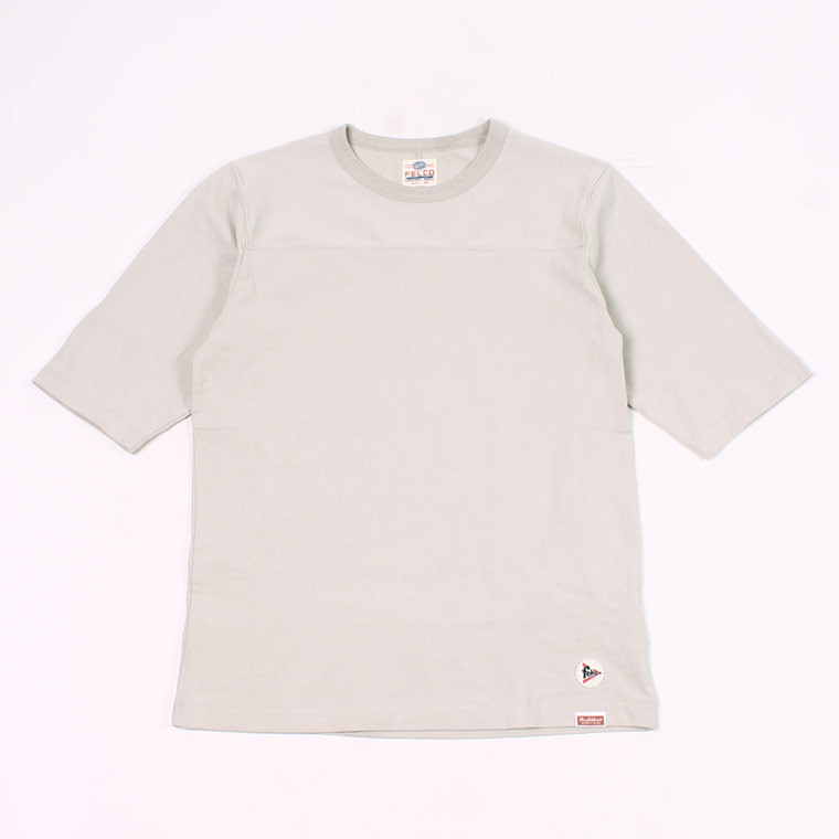 FELCO (フェルコ)  HALF SLEEVE FOOT BALL T OPEN END JERSEY U.S.COTTON - GREY