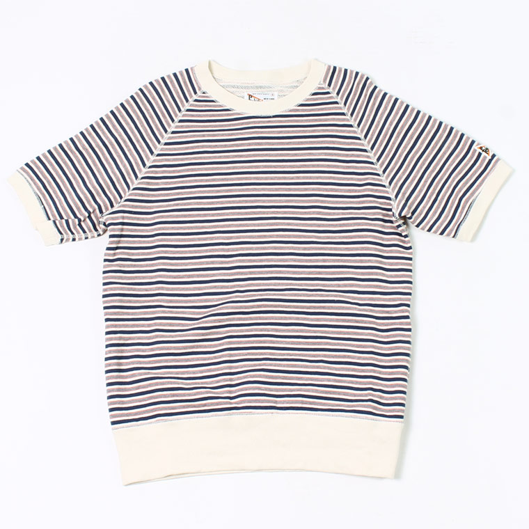 FELCO (フェルコ) S/S RAGLAN SWEAT IVY STRIPE - NAVY