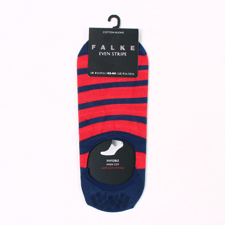FALKE (ファルケ)  #13383 EVEN STRIPE INSIBLE - BLUE_RED 6002