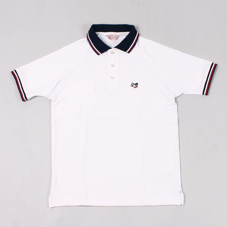Munsingwear (マンシングウェア) 60'S RAGLAN SLEEVE POLO BOWLING PENGUIN - WHITE