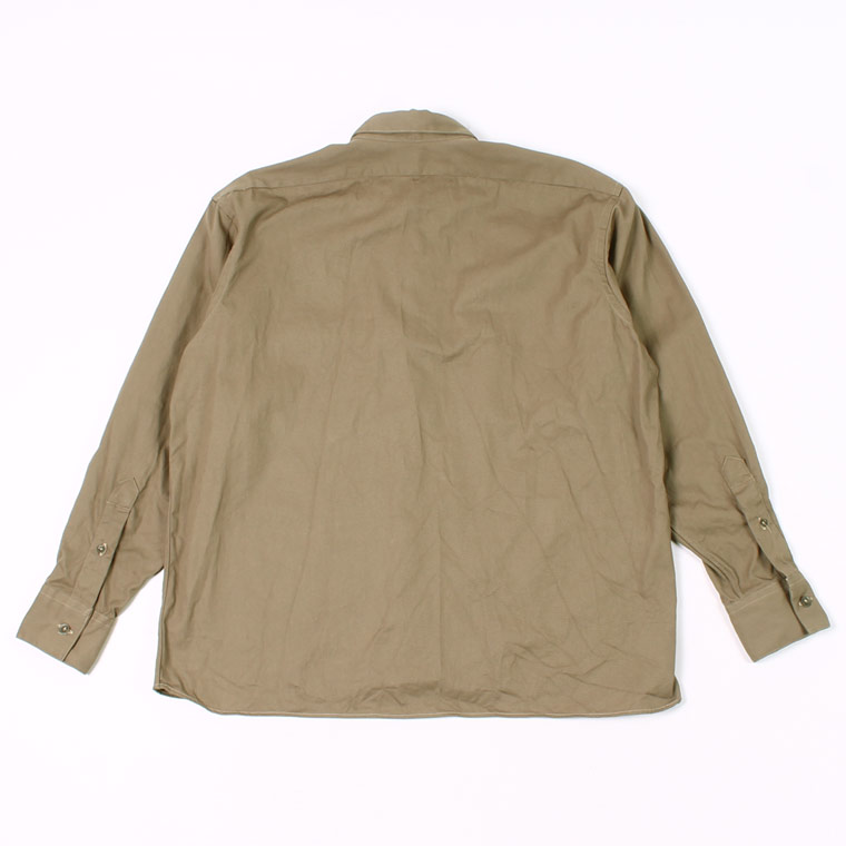 INDIVIDUALIZED SHIRT (インディビジュアライズドシャツ)  L/S TWILL UNIFORM SHIRT - KHAKIE