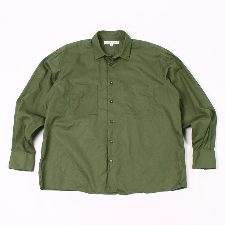 INDIVIDUALIZED SHIRT (インディビジュアライズドシャツ)  L/S TWILL UNIFORM SHIRT - OLIVEE