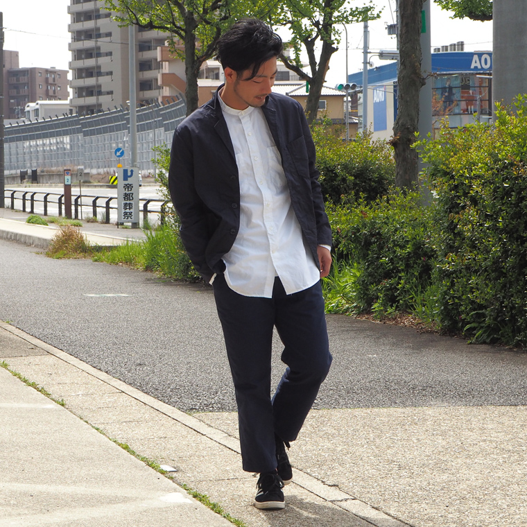 SABRE (サブレ)  BRISSBANE MOSS PIMA COTTON TWILL TAILOR JACKET / DK NAVY